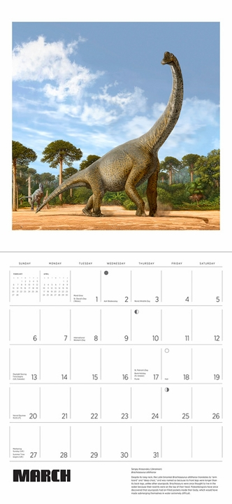 Dinosaurs: The Art of Sergey Krasovskiy 2022 Wall Calendar