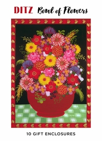 Ditz: Bowl of Flowers Boxed Gift Enclosures
