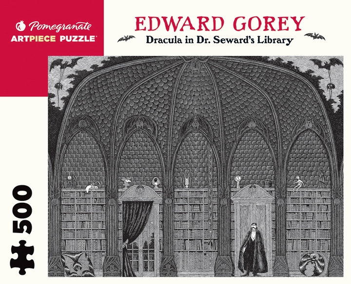 Edward Gorey: Dracula in Dr. Seward's Library 500-piece Jigsaw Puzzle