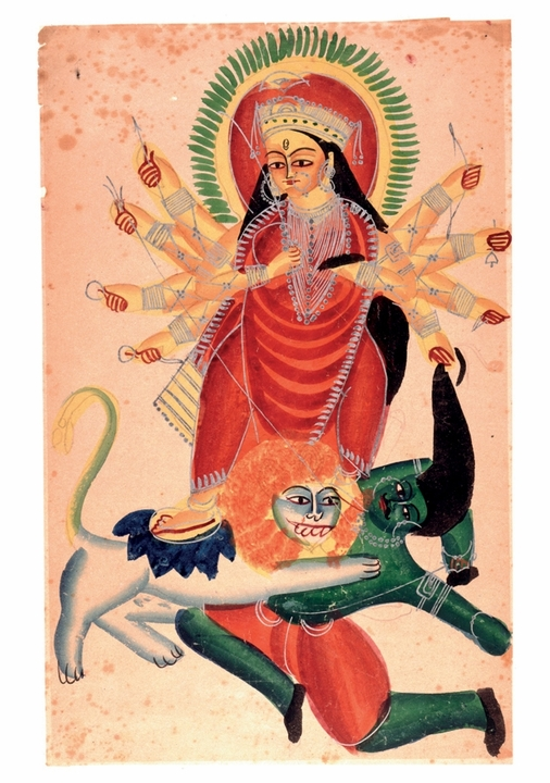 Durga on Her Lion Notecard