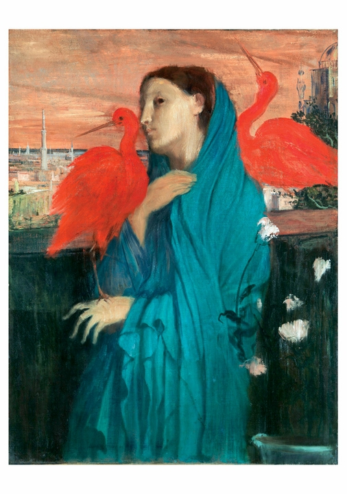 Edgar Degas: Young Woman with Ibis Notecard