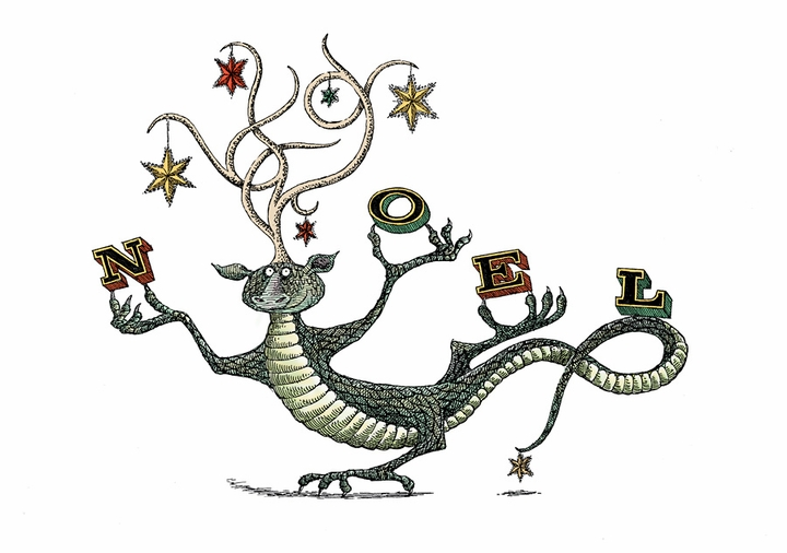 Edward Gorey: Noel Holiday Card