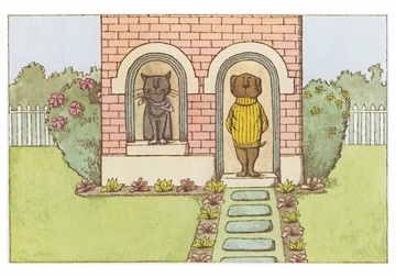 Edward Gorey: Sam and Emma Notecard
