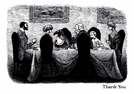 Edward Gorey: The Doubtful Guest Thank You Notes