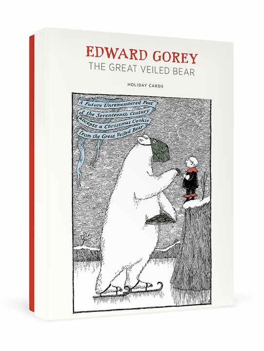 Edward Gorey: The Great Veiled Bear Holiday Cards