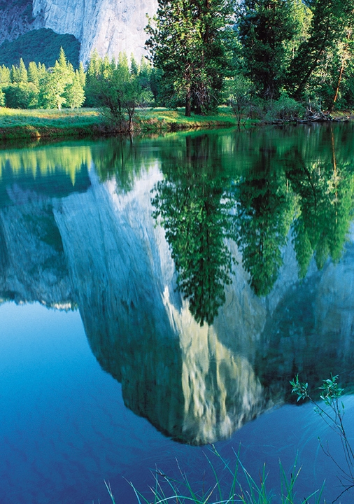 El Capitan reflected in the Merced River, Yosemite National Park Notecard