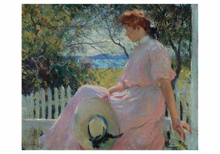 Frank Weston Benson: Eleanor Notecard