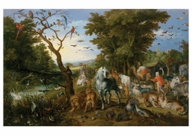 Jan Brueghel: The Entry of the Animals into  Noah's Ark Notecard