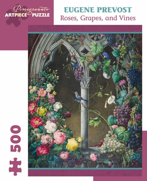 Eugene Prevost: Roses, Grapes, Vines 500-Piece Jigsaw Puzzle