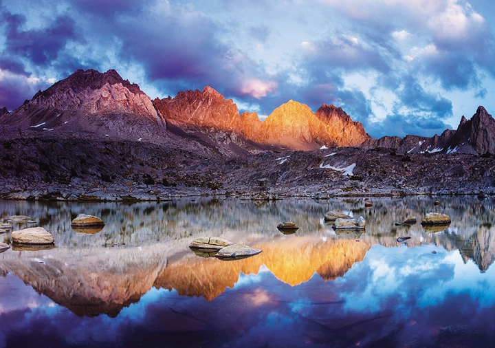 Evening Light, Dusy Basin, Kings Canyon National Park Notecard