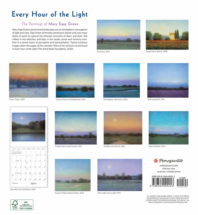 Every Hour of the Light: Paintings of Mary Sipp Green 2021 Wall Calendar