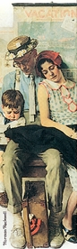 Norman Rockwell: Family Home from Vacation Bookmark