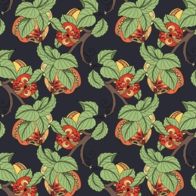 Fanciful Fruit Designer Gift Wrap