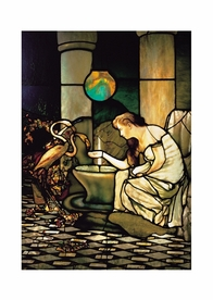 Louis Comfort Tiffany: Feeding the Flamingos Postcard