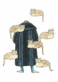 Edward Gorey: Floating Cats Postcard