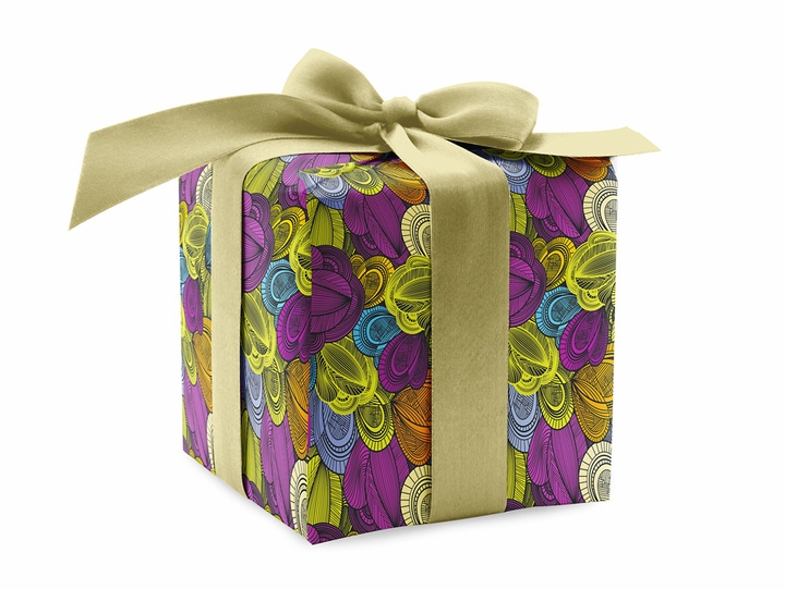Floral Abstract Designer Gift Wrap