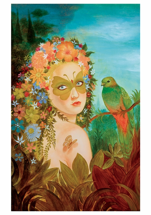 Tino Rodriguez: Forest Girl Notecard