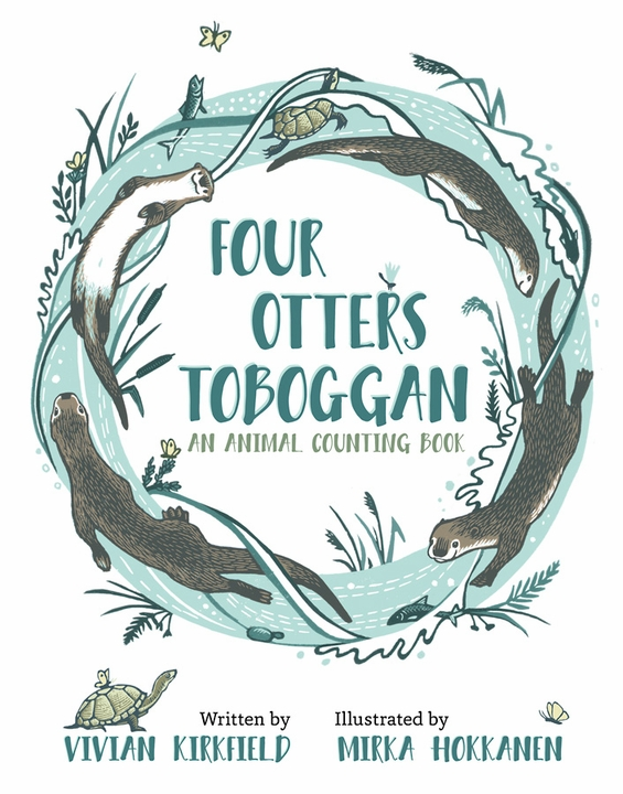 Four Otters Toboggan: An Animal Counting Book