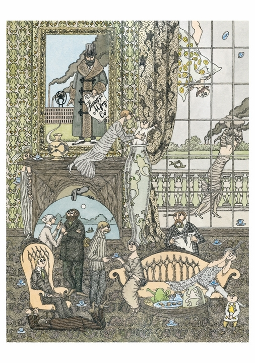 Edward Gorey: Frawgge Mfrg Co Notecard
