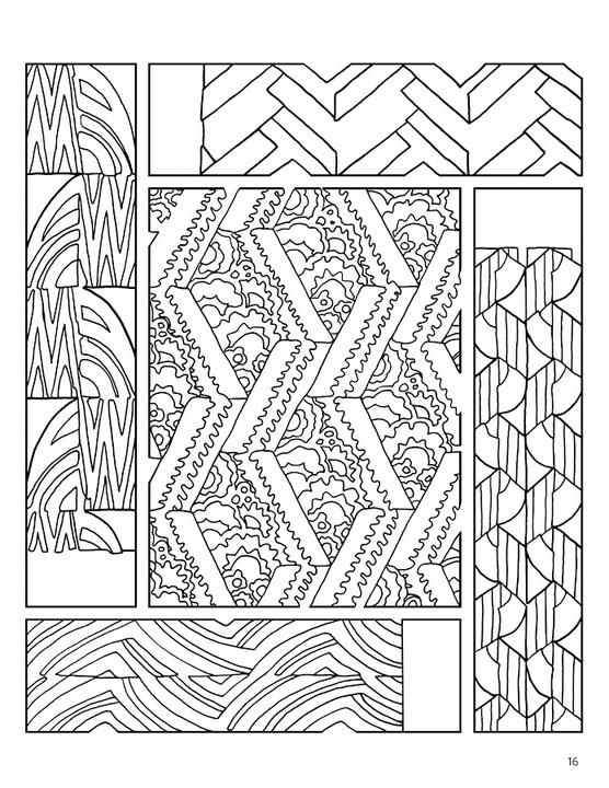 French Decorative Designs Coloring Book