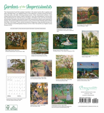 Gardens of the Impressionists 2020 Wall Calendar