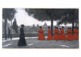 Georges Paul Leroux: Red Vicars Postcard