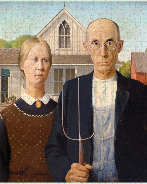 Grant Wood: American Gothic 1000-Piece Jigsaw Puzzle