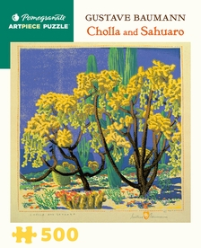 Gustave Baumann: Cholla and Sahuaro 500-piece Jigsaw Puzzle