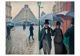 Gustave Caillebotte: Paris Street; Rainy Day Notecard
