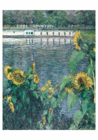 Gustave Caillebotte: Sunflowers along the Seine Notecard