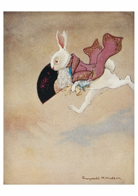 Gwynedd M. Hudson: The White Rabbit Birthday Card