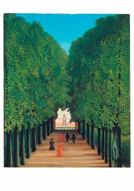 Henri Rousseau: Avenue in Saint-Cloud Park Notecard