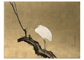 Maruyama Ōkyo: Heron on a Willow Branch Notecard