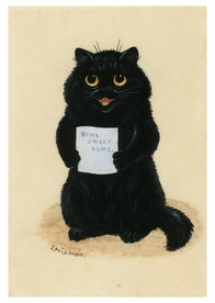Louis William Wain: Home Sweet Home Postcard