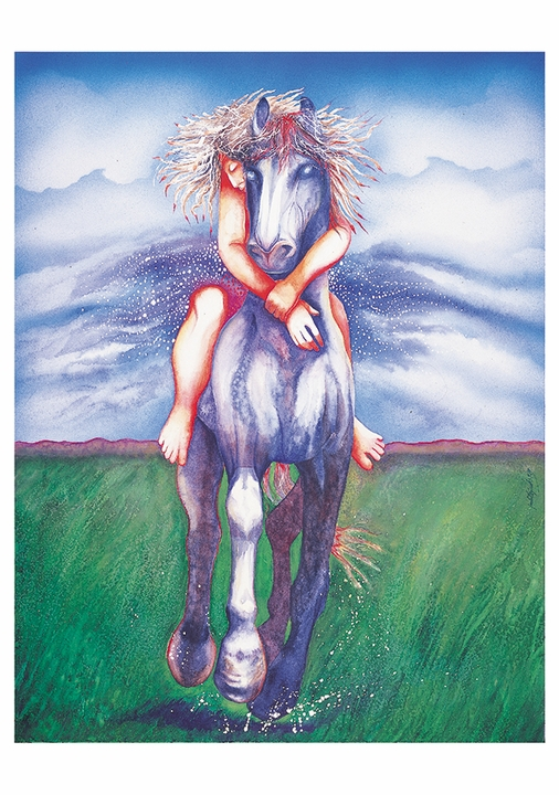 Judith Sparks: Horse and Rider Notecard