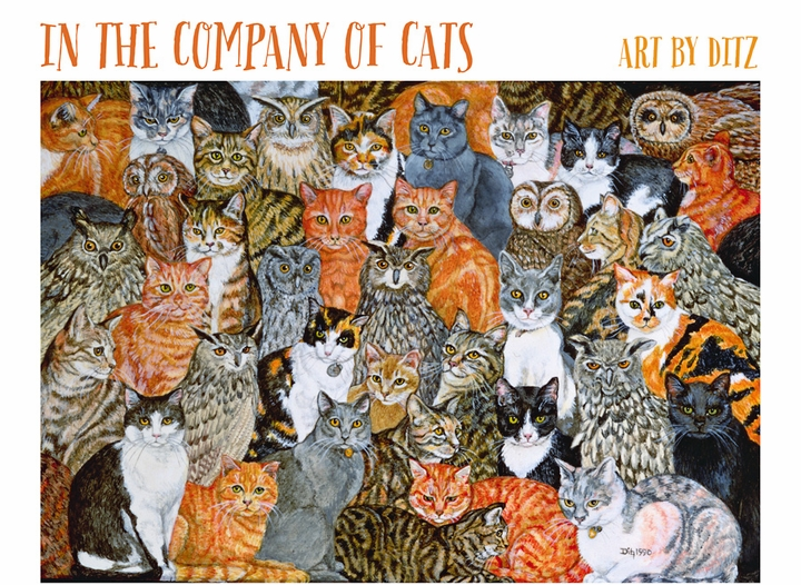 In the Company of Cats: Art by Ditz Boxed Notecard Assortment