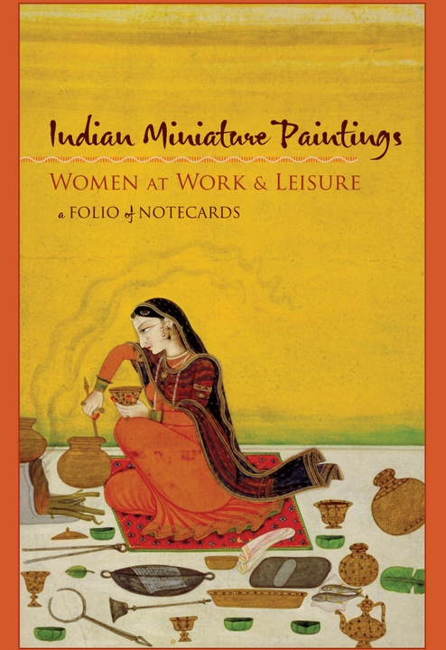 Indian Miniature Paintings: Women at Work and Leisure Notecard Folio