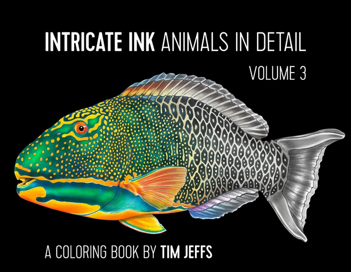 Intricate Ink: Animals in Detail Volume 3 Coloring Book