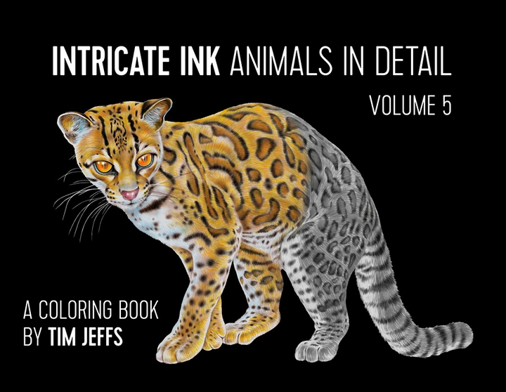 Intricate Ink: Animals in Detail Volume 5 Coloring Book