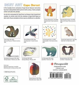 Inuit Art: Cape Dorset Calendrier 2021 Mini Wall Calendar