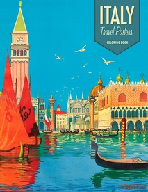 Italy: Travel Posters Coloring Book
