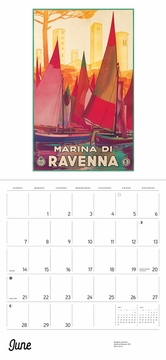 Italy: Vintage Travel Posters 2020 Wall Calendar