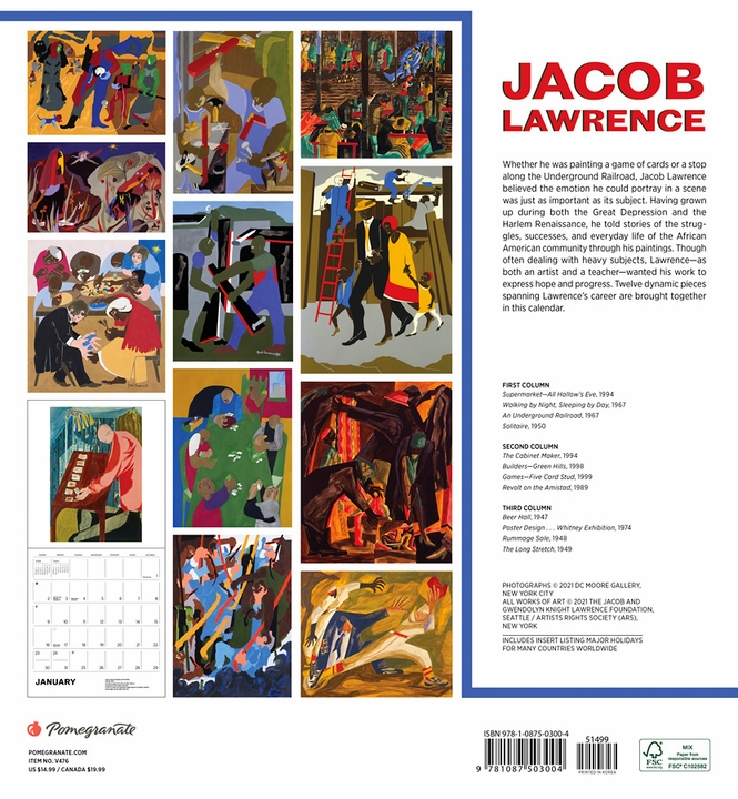 Jacob Lawrence 2022 Wall Calendar