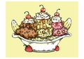 Janelle Dimmett: Banana Split Birthday Card