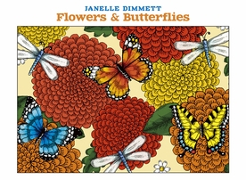 Janelle Dimmett: Flowers & Butterflies Boxed Notecard Assortment