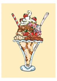 Janelle Dimmett: Ice Cream Sundae Birthday Card