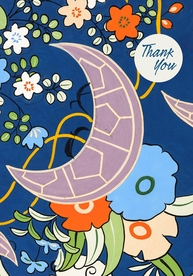 Japanese Decorative Design Thank You Notes