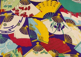 Japanese Decorative Fans Birthday Card