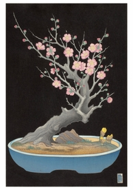 Lilian May Miller: Japanese Dwarf Plum Notecard