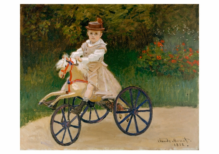 Jean Monet on His Hobby Horse Notecard
